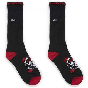 [VANS] USA 限定 Vans x Independent Crew Socks Black (バンズ x Indy クルーソックス ブラック)