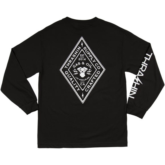 [Thrashin Supply Co.] Diamond L/S T-shirt ダイヤモンド 長袖 Tシャツ