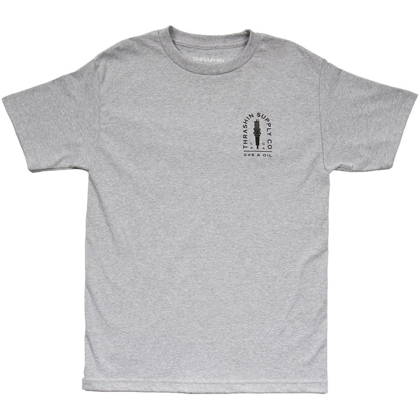 [Thrashin Supply Co.] Spark Plug Tee Heather Grey スパークプラグ Tシャツ ヘザーグレー