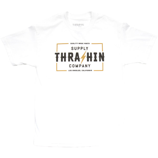 [Thrashin Supply Co.] Stamp Tee White スタンプ Tシャツ ホワイト