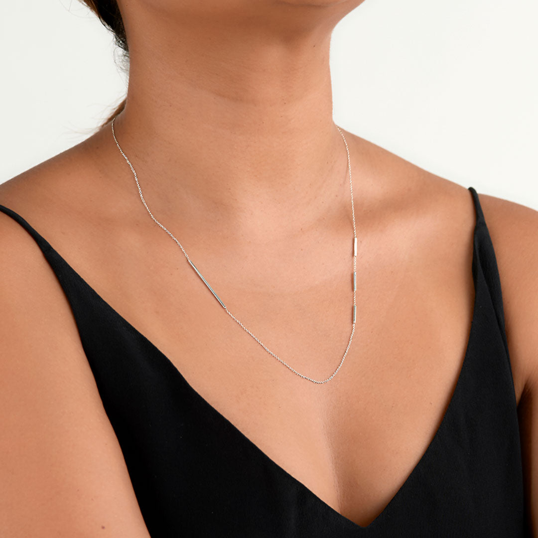 Silver Edge Necklace