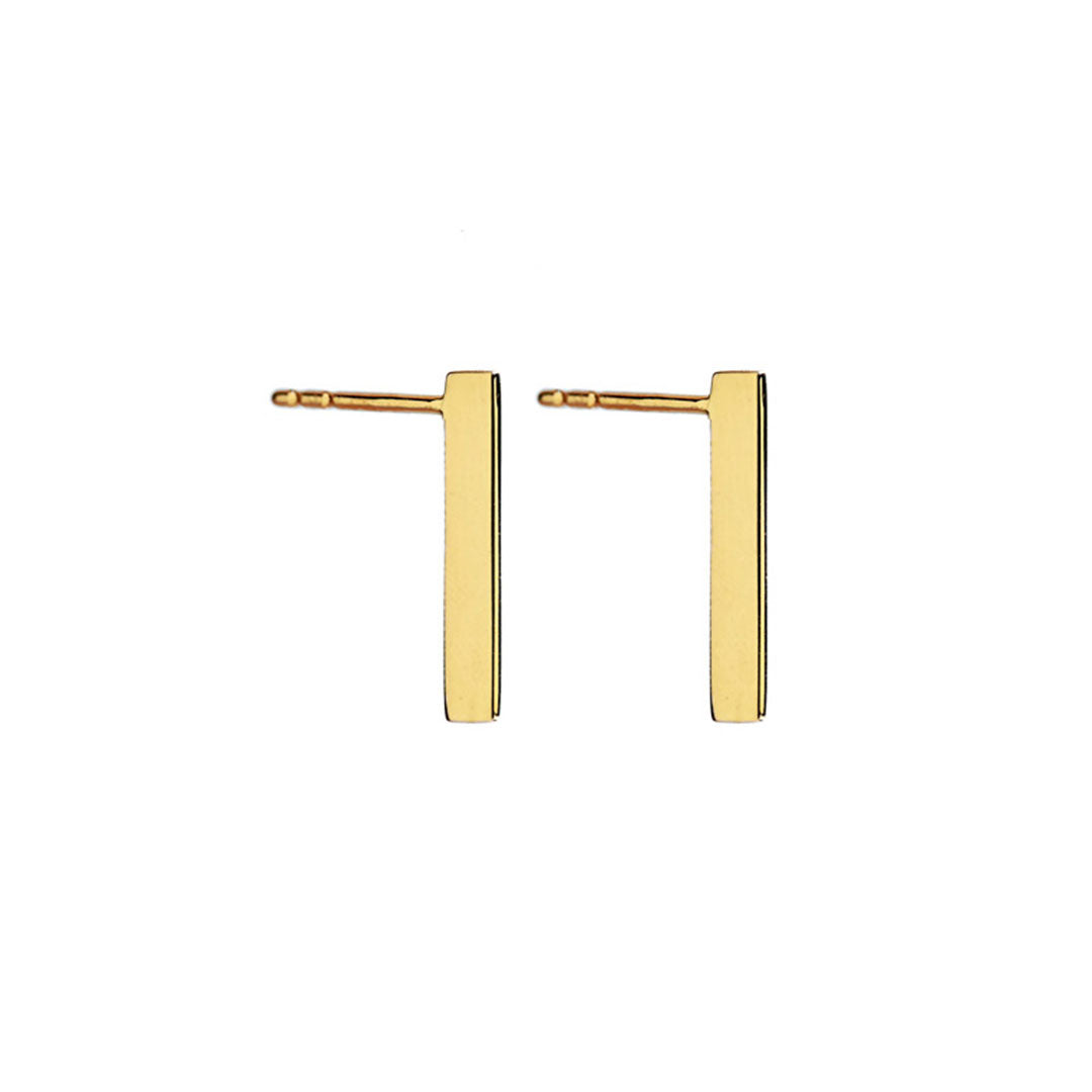 14k Gold Edge Earrings