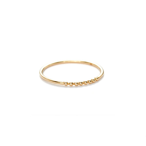14k gold Rain stacking ring band