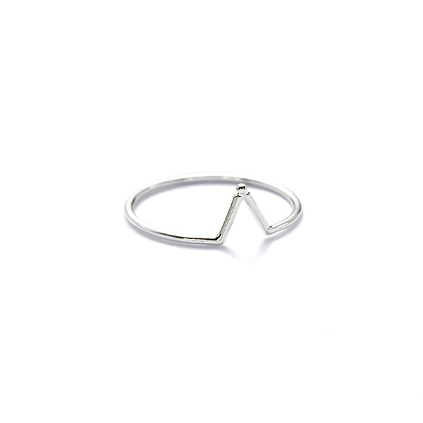 Silver Matahari stacking ring
