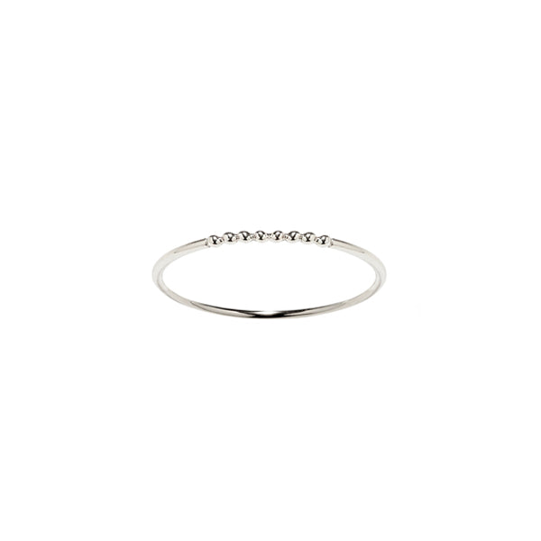 Silver Rain stacking ring. Fine Jewelry