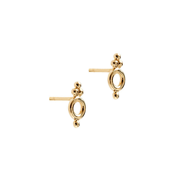 14k Gold Cloud Earrings