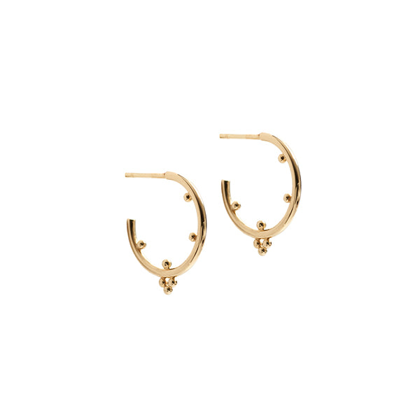 Malai hoop earrings in 14k gold