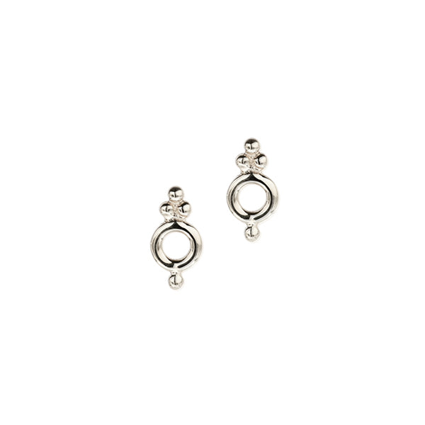 Silver dainty Cloud earrings. Fine jewellery