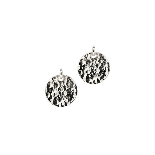 silver matahari hammered disc earrings