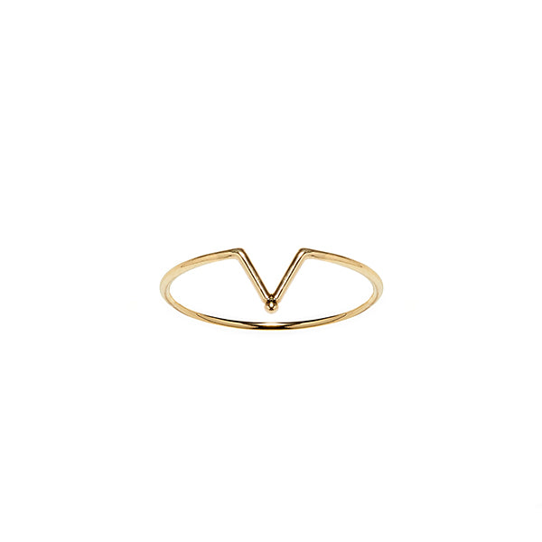 14k gold matahari minimalist stacking ring