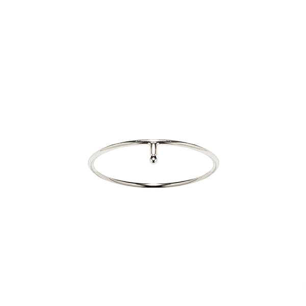Sterling silver droplet stacking ring