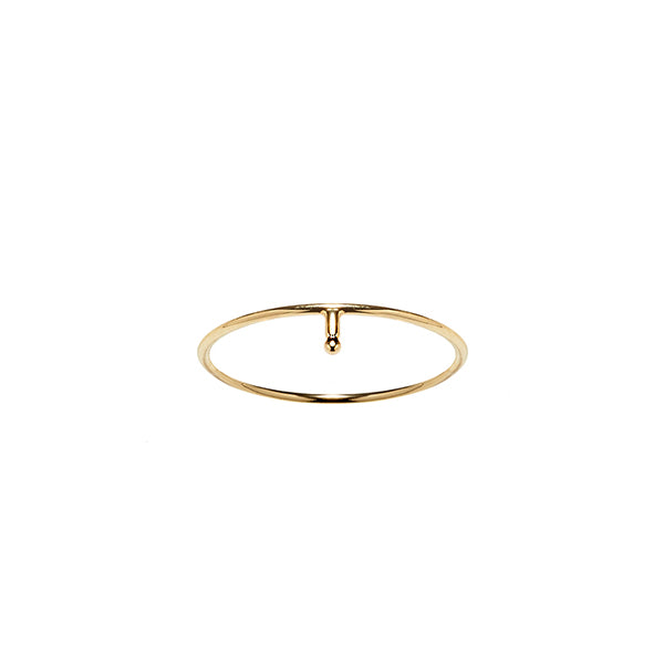 14k gold droplet minimalist ring