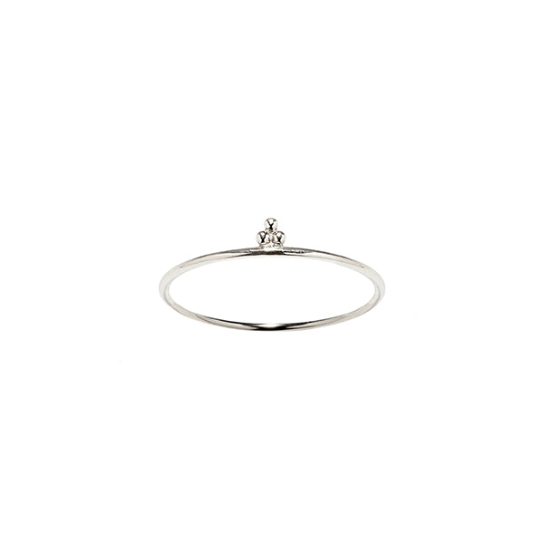 Sterling silver cloud stacking ring