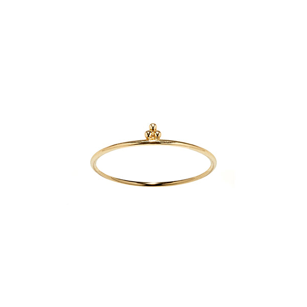 14k gold cloud stacking ring