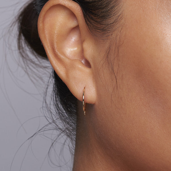 Malai earrings in 14k gold