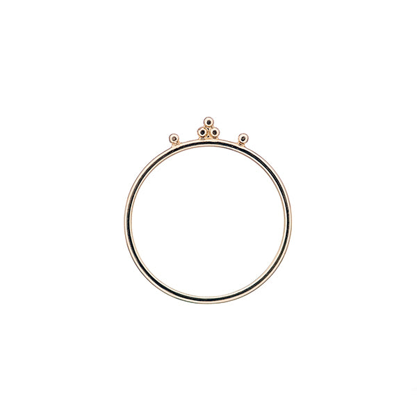 14k gold Malai stacking ring