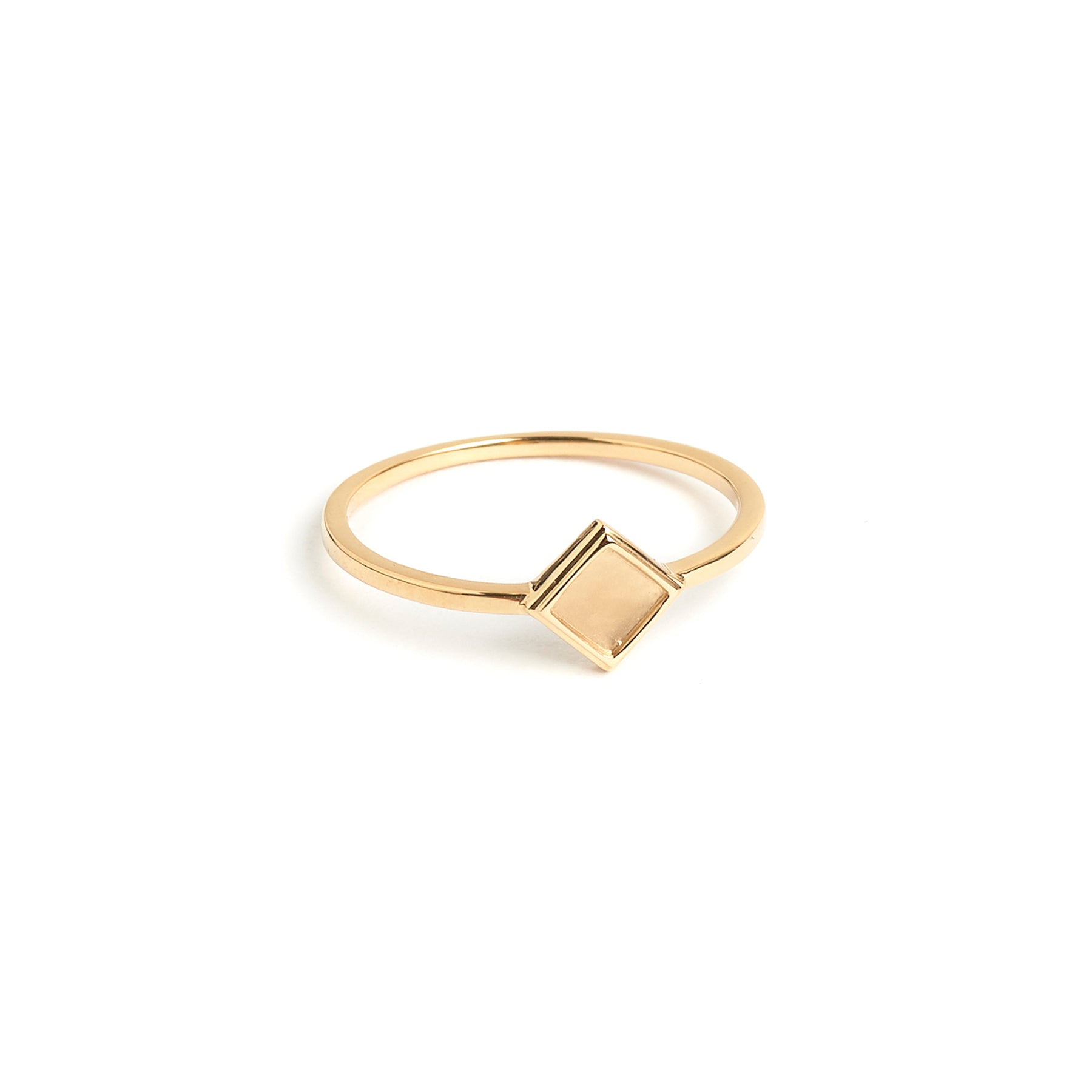 fine jewelry. 14k gold diamond shaped stacking ring
