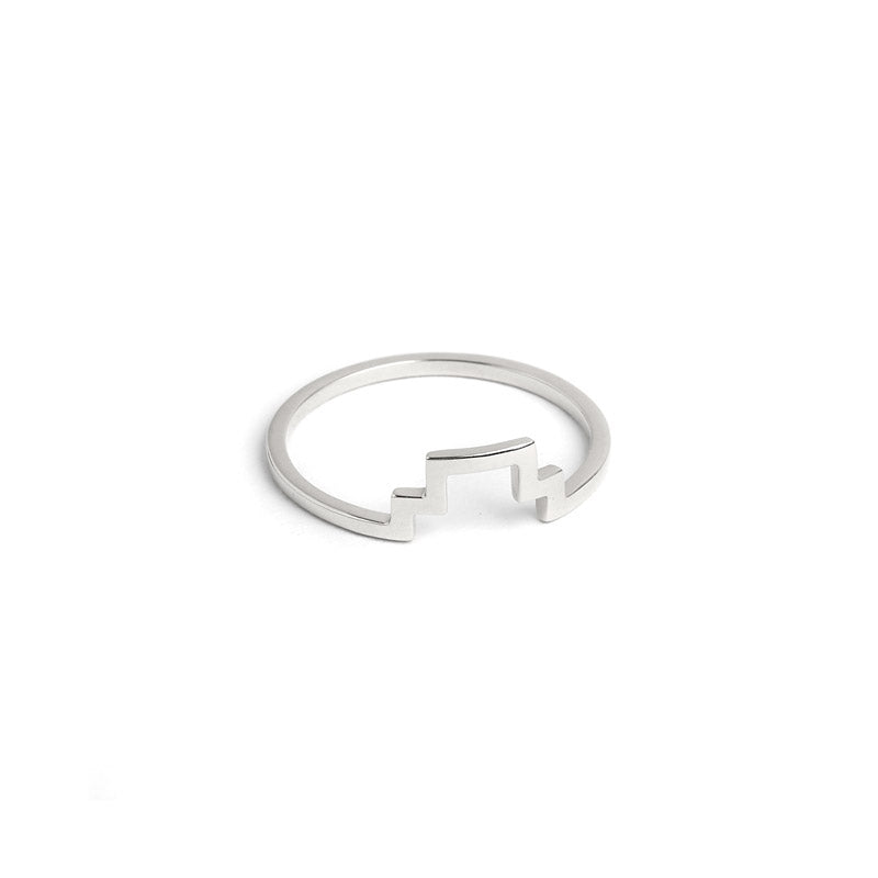 stacking ring minimalist jewelry silver line ring