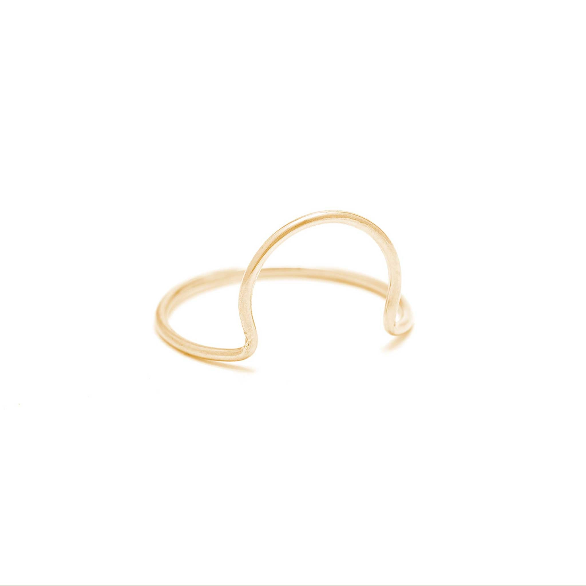 14k solid gold arc ring