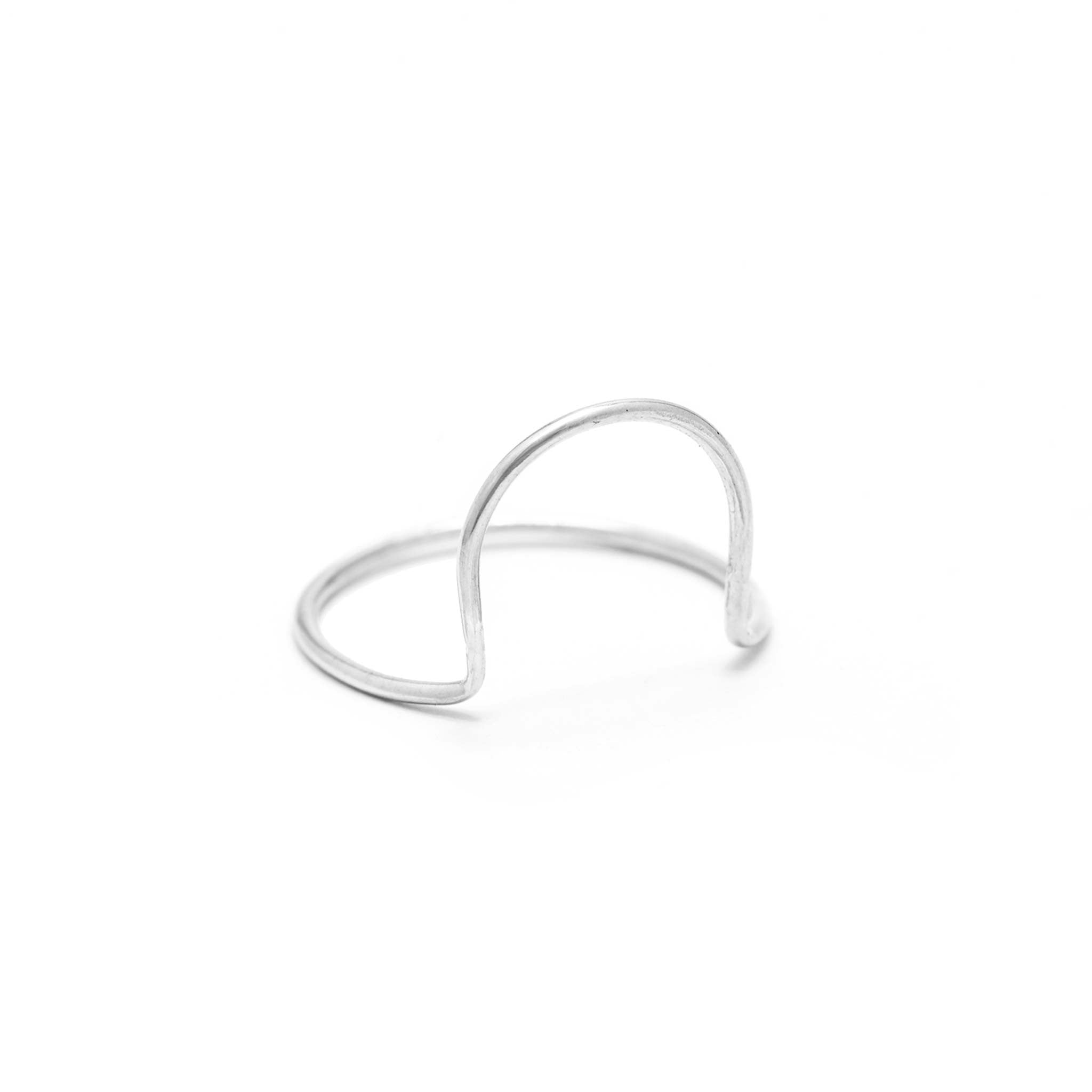 sterling silver arc ring