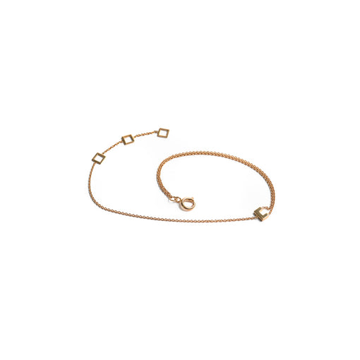 14k gold frame adjustable bracelet
