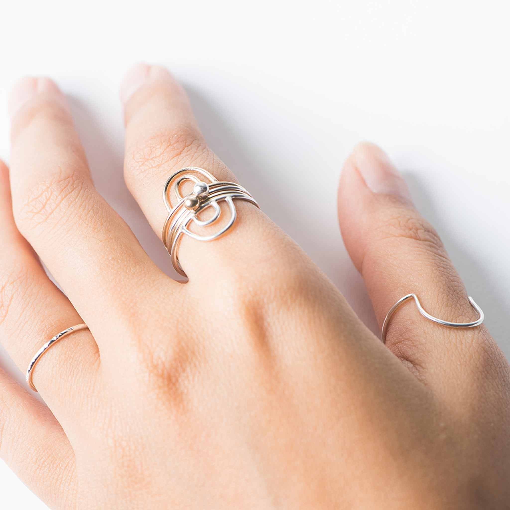 the stacking moon delicate finery fine straits sterling ring products rings jewellery combinations silver