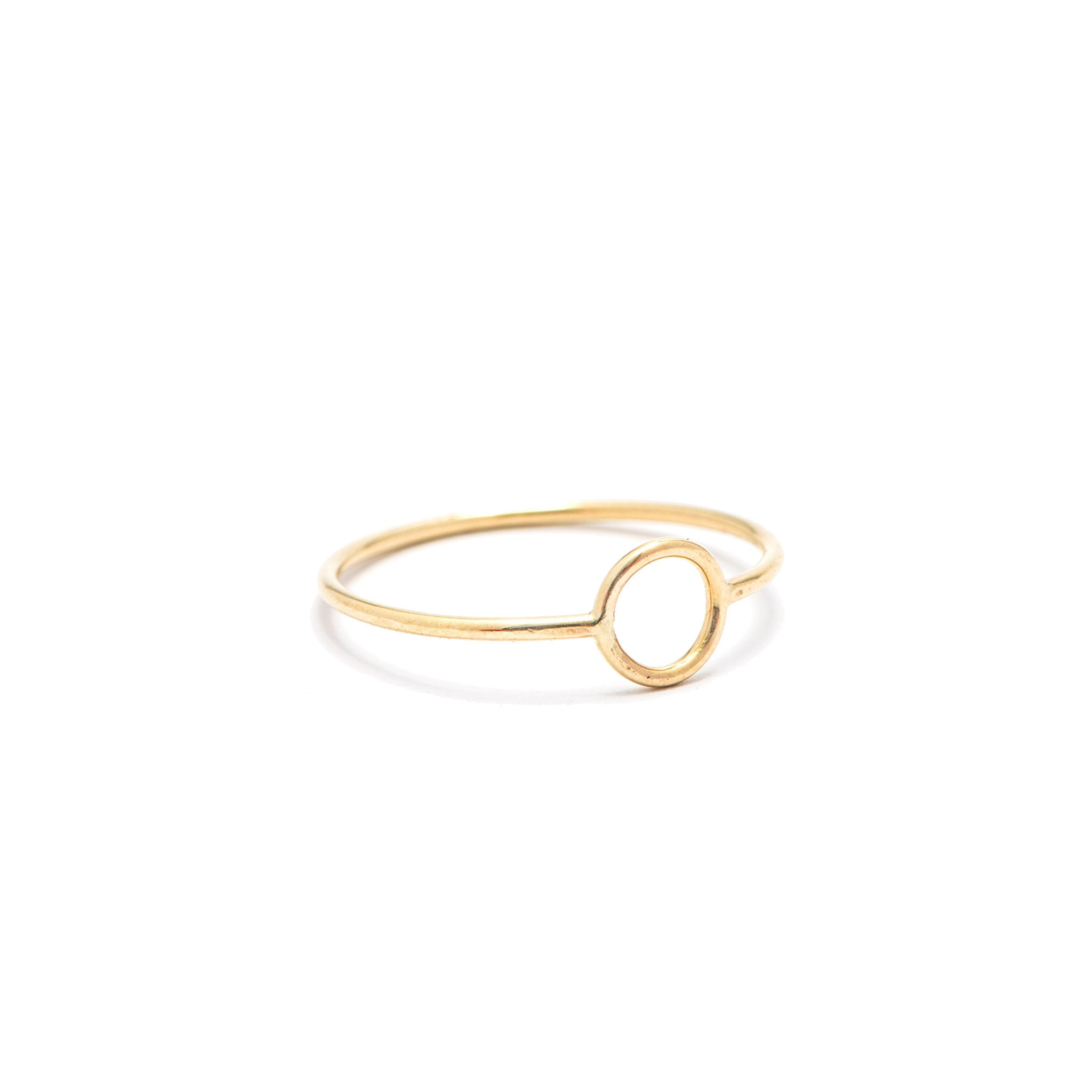 14k solid gold eclipse ring