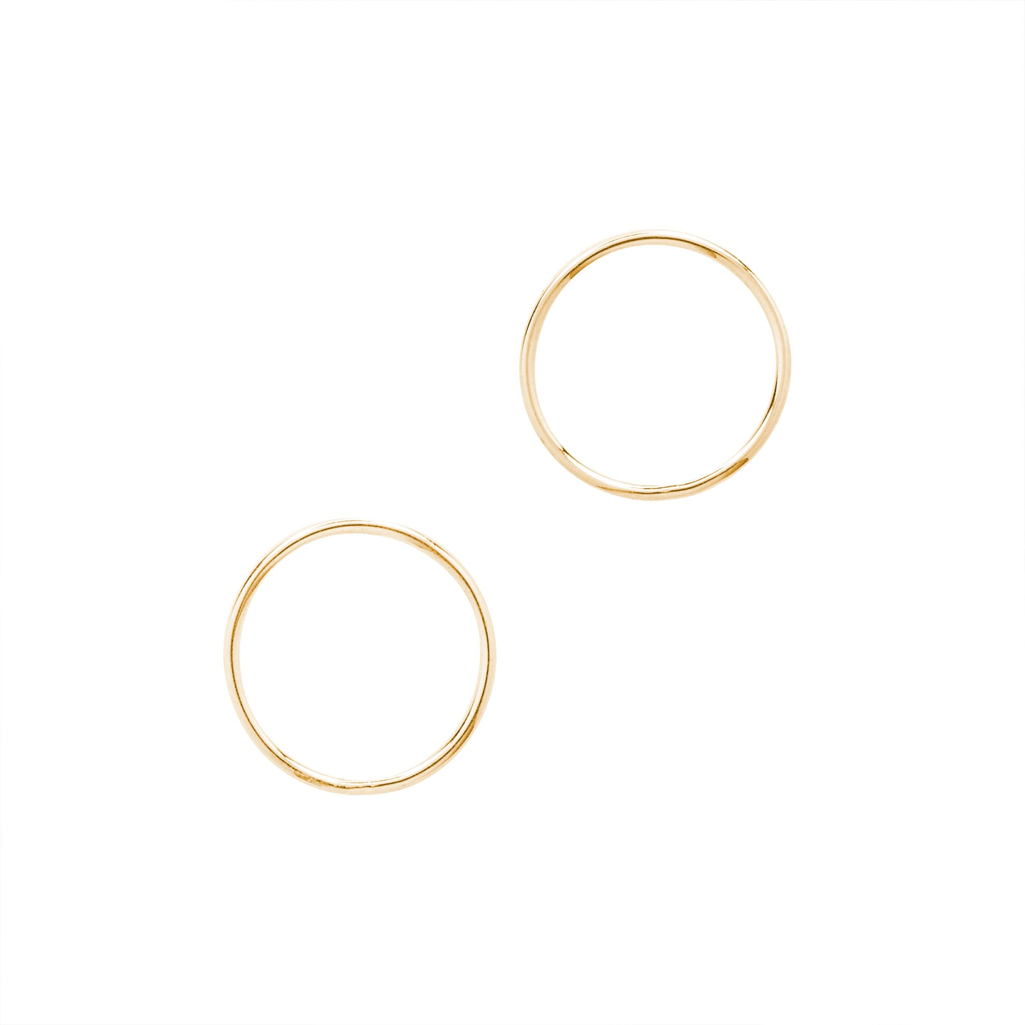14k solid gold eclipse earrings