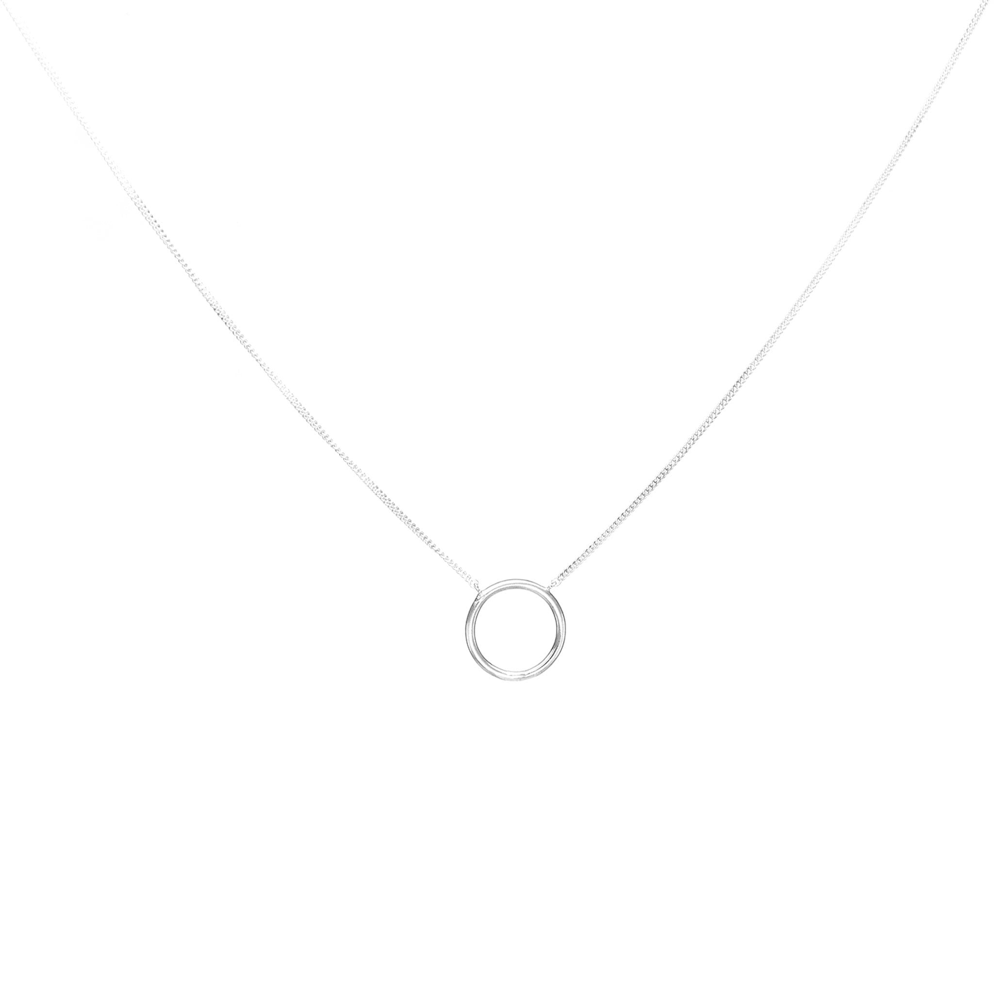 sterling silver eclipse necklace