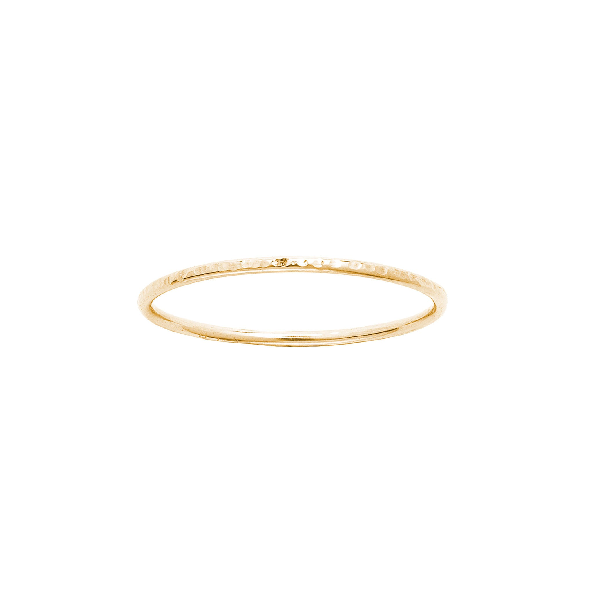 14k solid gold hammered ring