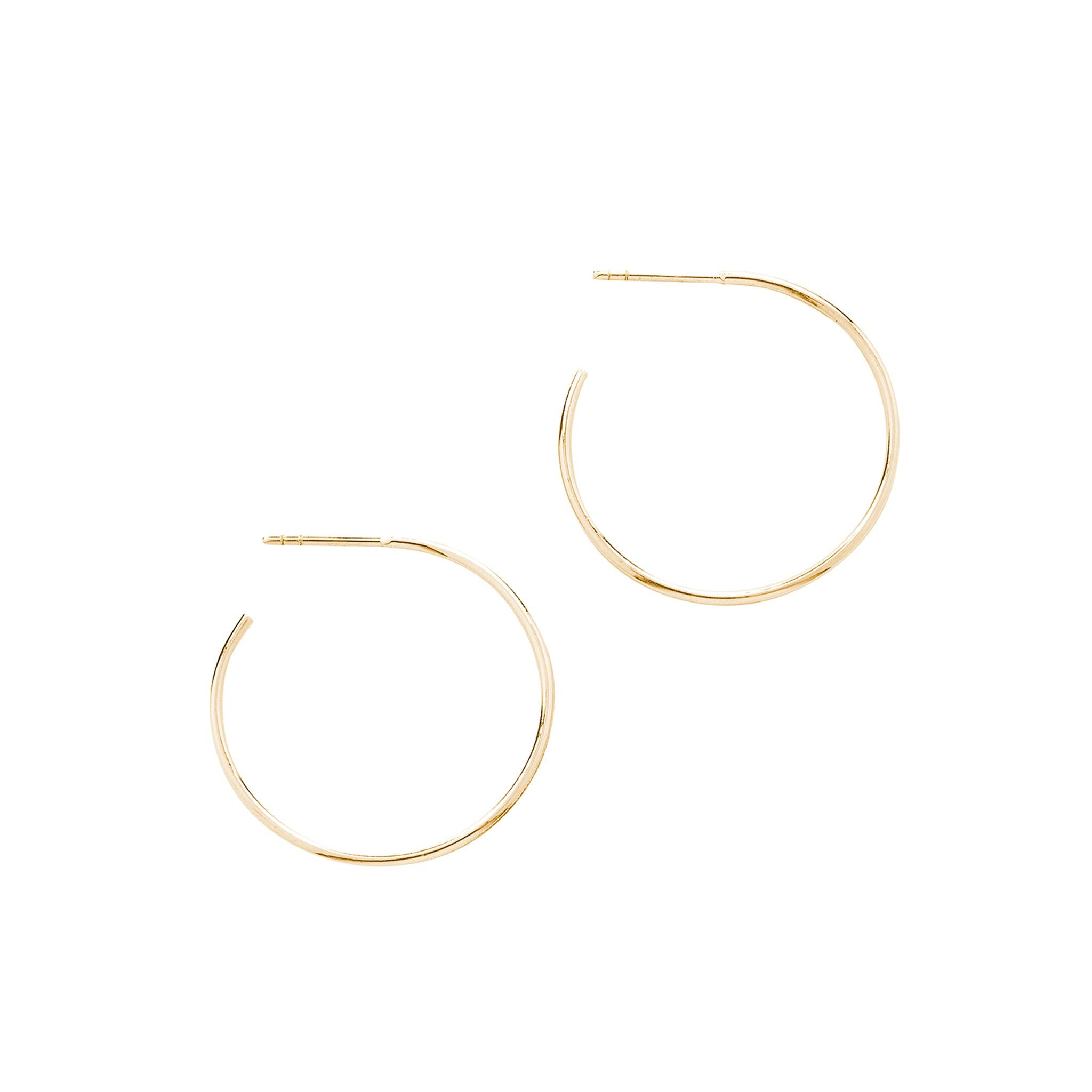 14k solid gold hoop earrings