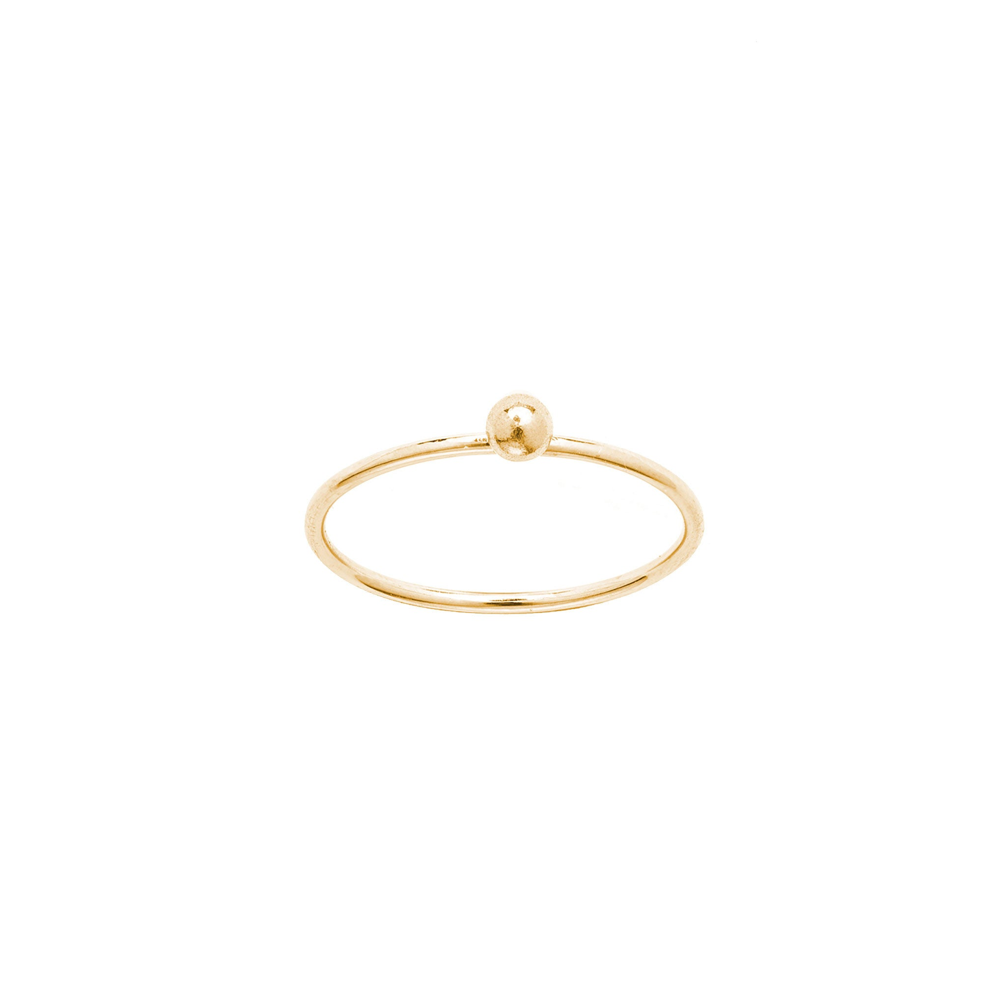 14k solid gold moon ring