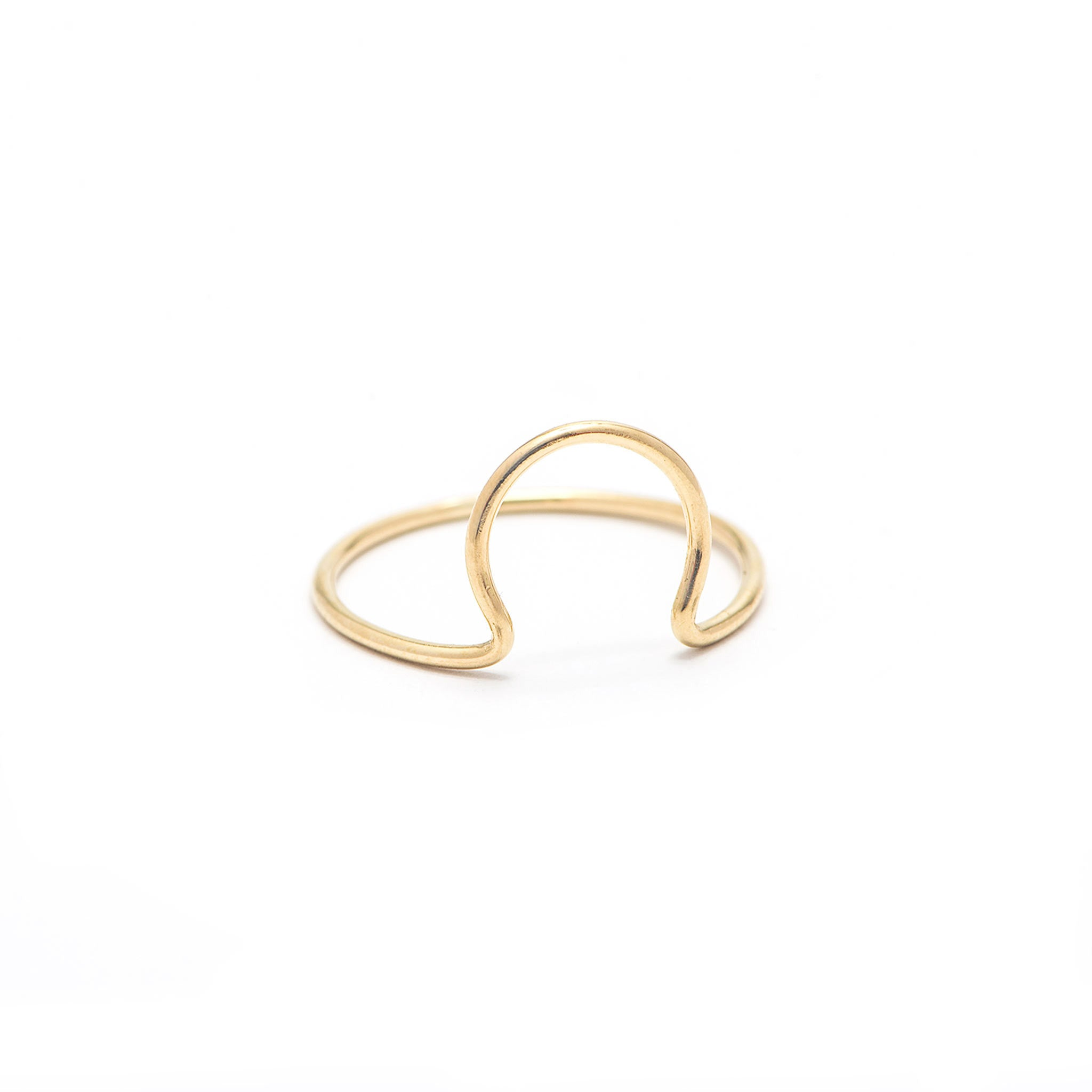 14k solid gold omega ring