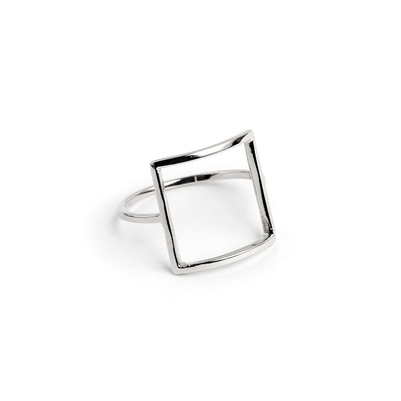 sterling silver frame statement ring