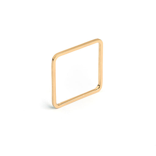 14k gold quad square stacking ring