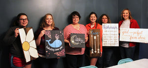 Sign painting parties are so much fun!