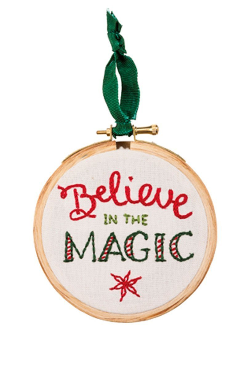Believe in the Magic Sewing Hoop Ornament