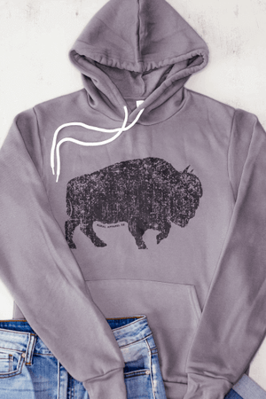 Buffalo Distressed Graphic Hoodie
