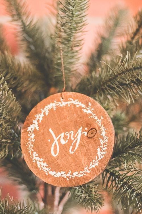 Barnwood Christmas Ornaments, joy ornament
