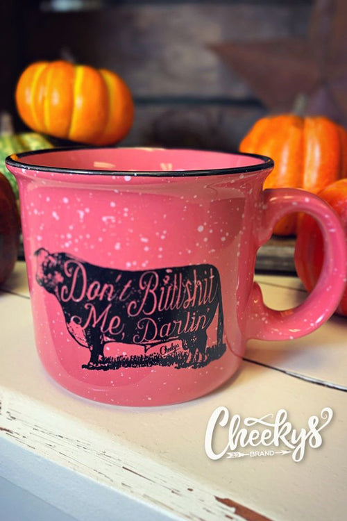 Don't Bullshit Me Darlin' Coral Ceramic Speckle Mug