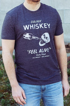 Lucky Brand Drink Whiskey Men's Graphic T-Shirt