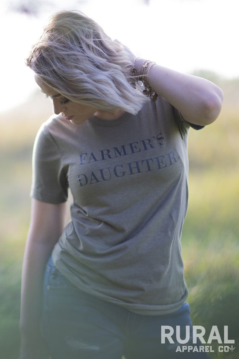 Farmers Daughter Graphic Tee, farmer's daughter, farmer tee, farming top, country girl top, country girl tee, farming tee, country tee, farm, rural tee, rural clothes, kansas city boutique, kc boutique tee, missouri tee rural, jamesport missouri boutique, rural mercantile, missouri boutique, rural farmers daughter