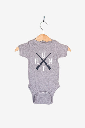 HUNT Crossed Rifles Baby Bodysuit