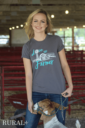Love Thy Farm Graphic T-shirt, farmer graphic tee, country t-shirt