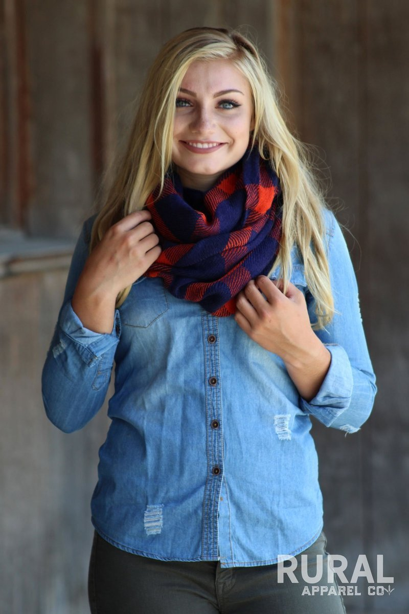 Born to Run Plaid Infinity Scarf
