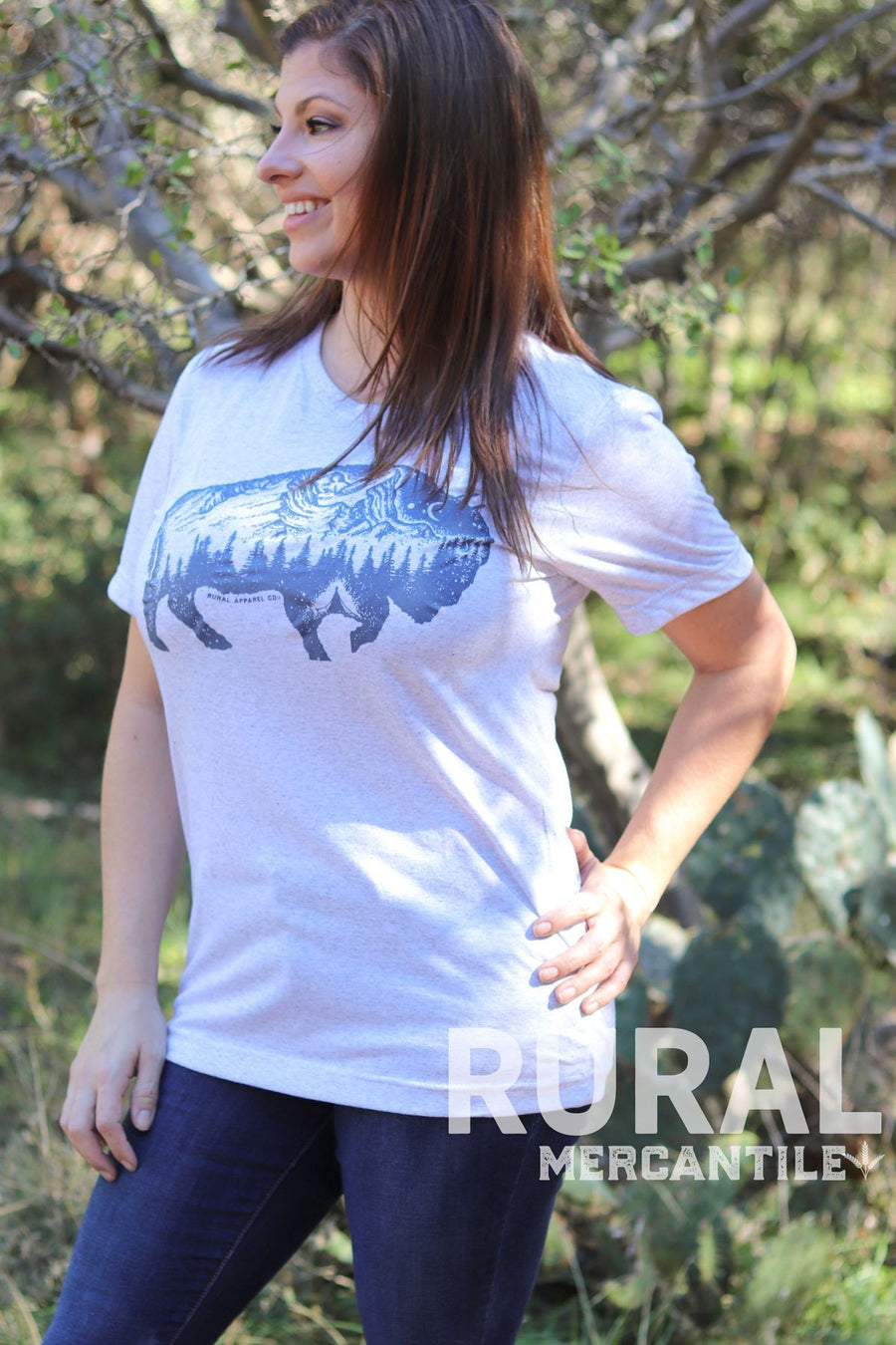 Buffalo Outpost Graphic Tee, graphic tee, Buffalo Outpost Graphic T-shirt, rural t-shirt, buffalo t-shirt, buffalo tee, country shirt, country girl tee, country girl cute shirt, bison womens tee, camping tee, mountains graphic tee, buffalo top, buffalo shirt, rural graphic t-shirt, rural mercantile, jamesport missouri