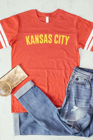 Kansas City Red Jersey Graphic Tee