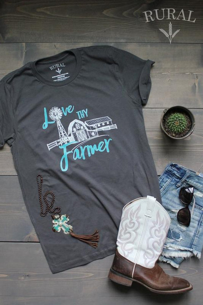 Love Thy Farmer Tee, Love Thy Farmer, Love Thy Farmer Shirt, Love Thy Farmer Graphic Tee, Love Thy Farmer T-Shirt, Love Thy Farmer Clothes, Farmer Tee, Farmer Shirt, Farmer T-Shirt, Farmer Shirt, Clothes about Farming, RURAL Tees, RURAL Mercantile Tees, RURAL Love Thy Farmer, Farmer's Do it Better Love Thy Farmer, Farmer's Do it Better, Facebook Love Thy Farmer