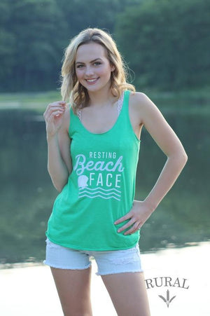 resting beach face tank top, resting beach face, funny womens tank tops, funny womens tees, funny vacation shirts, funny vacation tops, funny vacation tees, funny vacation tank top, beach tank top, beach graphic tank, beach graphic tee, mermaid tank top, mermaid tee, mermaid graphic tee, vacay top, vacay tank, vacay tank top, resting beach face tank, rural apparel company, summer tank top, summer graphic tank, beach clothing, RBF tank, RBF tee, resting bitch face tank top, resting bitch face tee