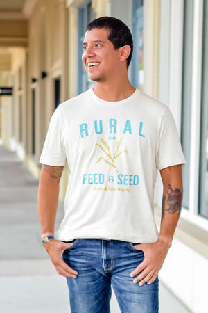 Rural Seed and Feed Graphic T-Shirt, vintage style farm shirt